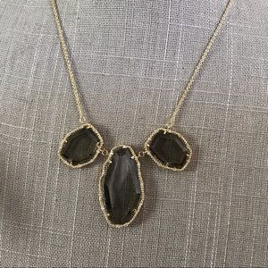 Jewelry - Gray crystal geometric gold rhinestone necklace